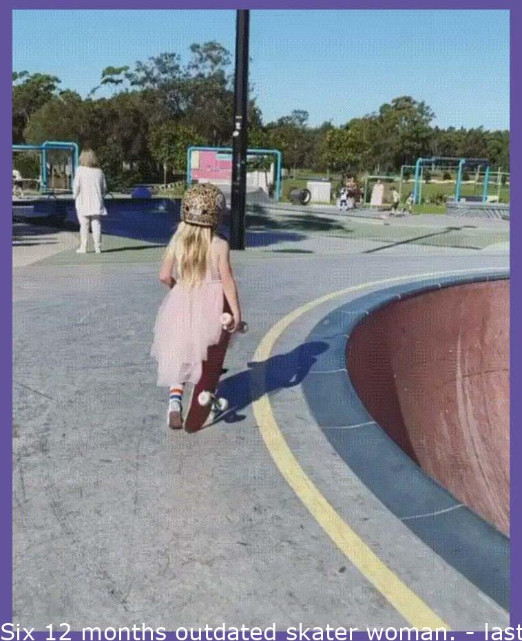 Six year old skater girl.