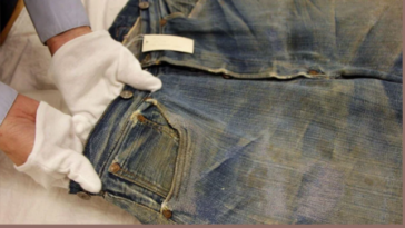 Worlds oldest pairs of Levi's Jeans found in a goldmine 139 years later.