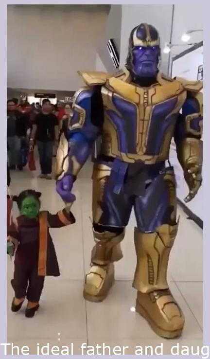 The best father and daughter cosplay.