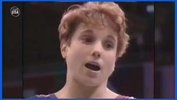 Injured Kerri Strug lands on one leg and wins gold medal in Olympics 1996
