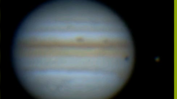 A massive astroid/comet hits the surface of jupiter on the 13th of september