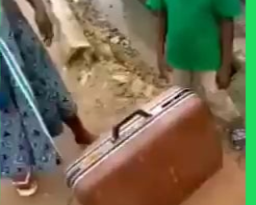 kid locked his friend inside a suitcase